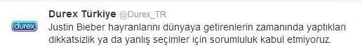 Durex Justin Bieber Tweet