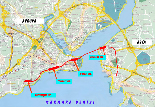 Marmaray Güzergah ve Durakları | Erkan Ceran | Erkan Ceran