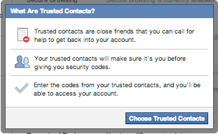 Facebook Trusted Contacts